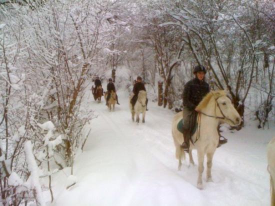 Balades dans la neige à ST JACQUES D'AMBUR